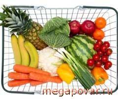 Фруктово овощная диета меню