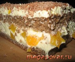 Фото блюда к рецепту *Рождественский шведский ореховый торт с абрикосами*